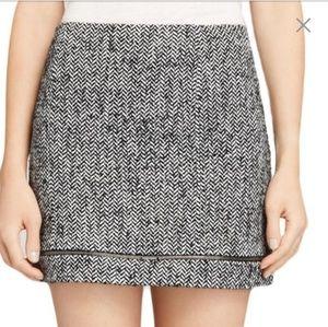 NWT Rebecca Minkoff Tweed Mini Skirt Sz 6